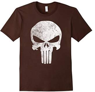 Marvel Punisher Skull Symbol Distressed Graphic T-Shirt