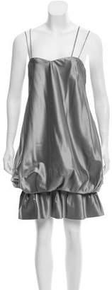 Prada Sleeveless Gathered Dress