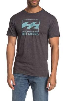 Billabong Texture Wave Logo Graphic Print Tee