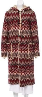 Missoni Fur-Lined Wool Coat