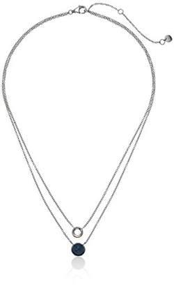 Skagen sea glass -tone layered pendant necklace