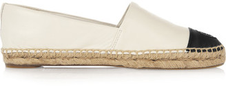 Tory Burch - Two-tone Leather Espadrilles - Ivory $195 thestylecure.com