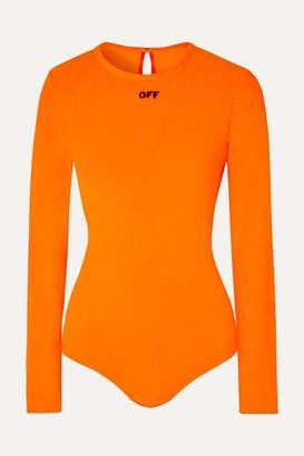 Off-White Printed Fleece Bodysuit - Orange