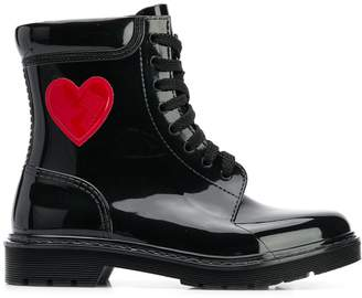 Love Moschino lace-up boots