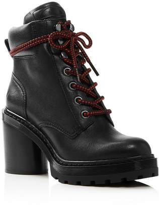 fabdfef2232 Marc Jacobs Women s Crosby Round Toe Leather Platform Hiking Boots