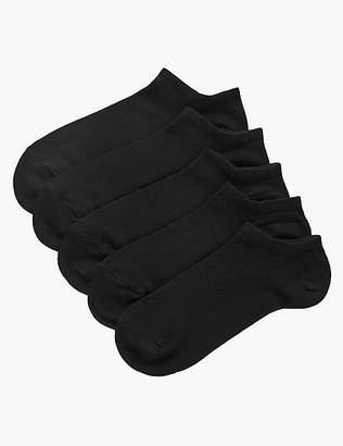 Marks and Spencer 5 Pair Pack Supersoft Trainer Liner Socks