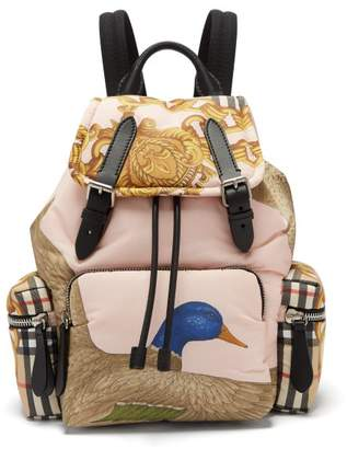 Burberry Archive Print Backpack - Womens - Pink Multi