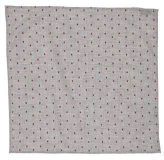 Brunello Cucinelli Polka Dot Woven Pocket Square