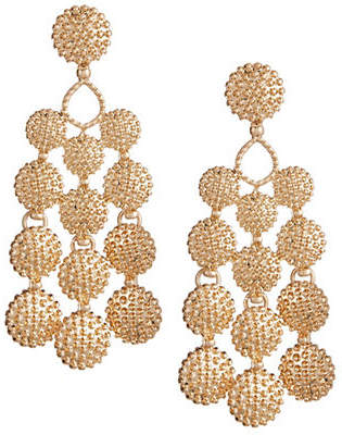DESIGN LAB Dotted Circle Chandelier Earrings