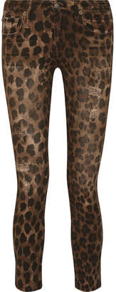 R13 - Kate Distressed Leopard-print Low-rise Skinny Jeans - Leopard print $495 thestylecure.com