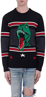 Saint Laurent Men's Wool Intarsia-Knit Oversized Sweater $990 thestylecure.com