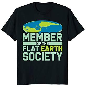 Flat Earth T-Shirt: Earther Society Member Conspiracy Clues