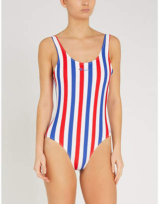 Champion Logo-print striped swimsuit