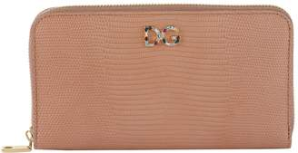 Dolce & Gabbana Embellished Logo Zip-Around Wallet