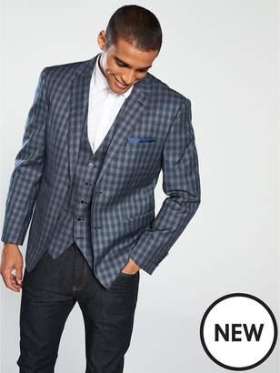 Skopes Modina Checked Suit Jacket - Grey/Navy