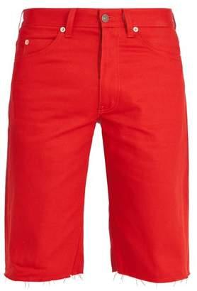 Gucci Raw Hem Denim Shorts - Mens - Red