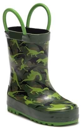 Northside Dino Camo Waterproof Rain Boot (Toddler)