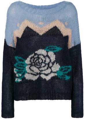Twin-Set roses intarsia jumper