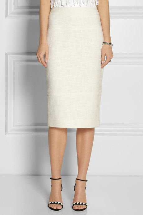 Jason Wu Cotton-tweed midi skirt