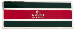 Gucci Silver-Tone Web Money Clip