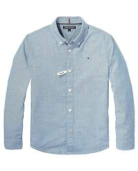 Tommy Hilfiger Essential Stretch Chambray Shirt L/S (Boys 8-14 Years)