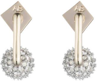 Alexis Bittar Crystal Encrusted Sphere Post Earring