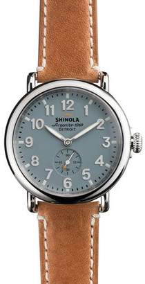 Shinola Men's 41mm Runwell Men's Watch, Light Blue