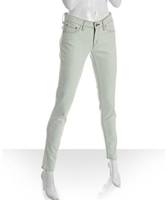 Rag & Bone bleach wash skinny leg jeans