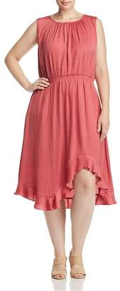 Vince Camuto Plus High/Low Ruffle Dress