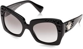 Versace Ornate Oversize Geometric Sunglasses in Black VE4308B GB1/11