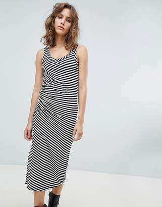 AllSaints stripe jersey dress