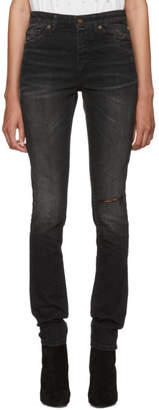 Saint Laurent Black Mid-Rise Skinny Jeans