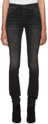 Saint Laurent Black Mid-Rise Skinny Jeans