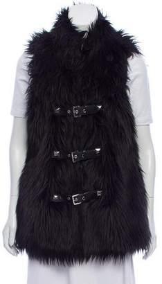 MICHAEL Michael Kors Faux Fur Buckled Vest