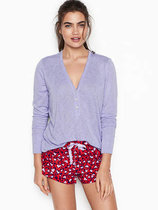 Victoria's Secret Victorias Secret Henley Flannel Short PJ