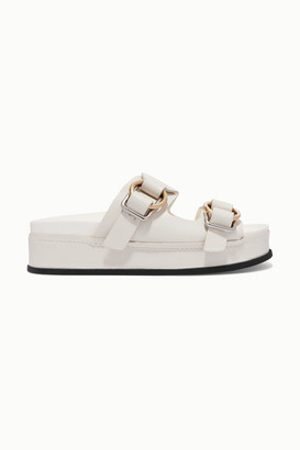 3.1 Phillip Lim Freida Leather Platform Sandals - Off-white