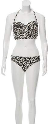 Tory Burch Floral Print Two-Piece Swimsuit w/ Tags
