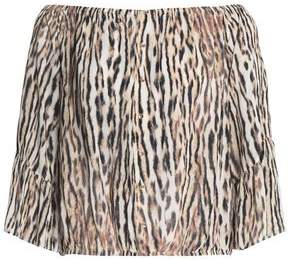 Tart Collections Leopard-Print Crepe Top