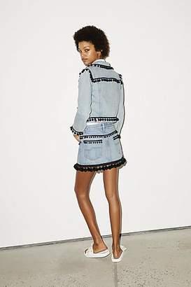 CONTEMPORARY Pompom Mini Skirt