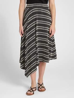 Gap Asymmetrical Jacquard Ribbed Midi Skirt