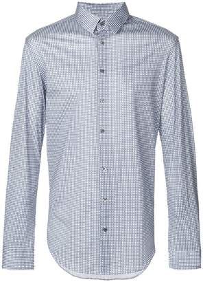 Giorgio Armani check print shirt