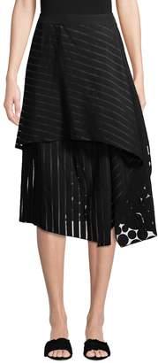 Diane von Furstenberg Women's Front Ruffle Midi Skirt