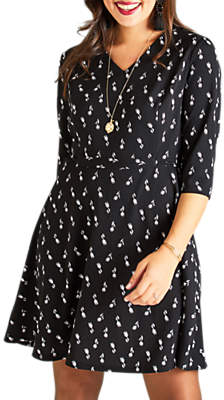 9c9094db1d3 at John Lewis and Partners · Yumi Curves Floral Ponte Skater Dress