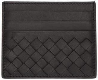 Bottega Veneta Black Intrecciato Card Holder