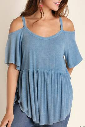 Umgee USA Cold Shoulder Top