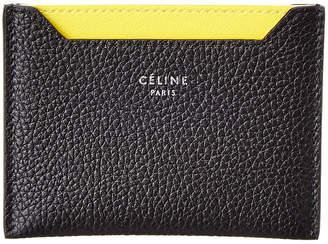 Celine Leather Card Holder