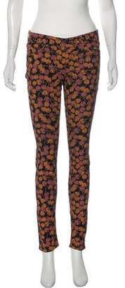 Mother The Looker Printed Skinny Jeans