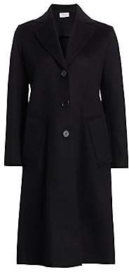 Akris Punto Women's Ruffled Back Single-Breasted Coat