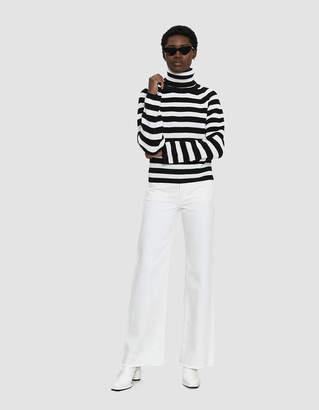 Farrow Ayaan Striped Turtleneck Sweater
