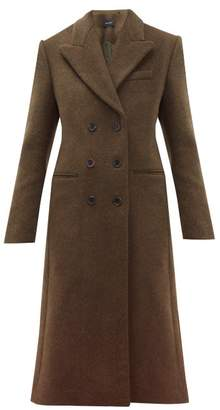 Isabel Marant Roleen Virgin Wool Blend Double Breasted Coat - Womens - Khaki